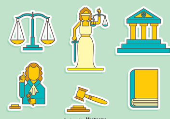 Justice Element Vector Set - vector gratuit #405147