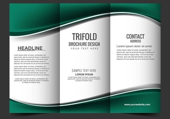 Free Vector Tri Fold Brochure - Free vector #405177
