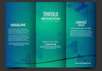 Free Vector Tri Fold Brochure - Free vector #405187