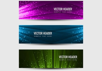 Free Vector Headers Vector Set - vector gratuit #405197