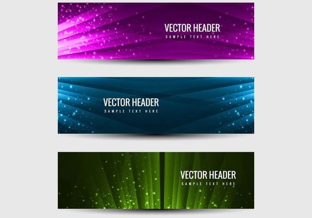 Free Vector Headers Vector Set - vector #405197 gratis