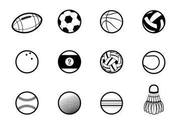 Balls Icon - vector #405257 gratis