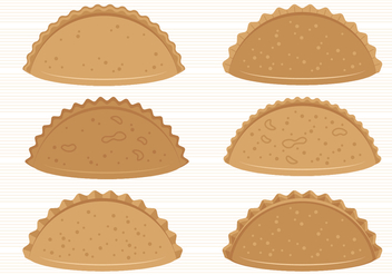 Empanadas Vector Collection - vector gratuit #405417