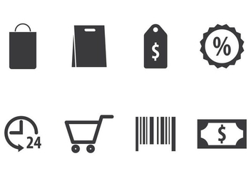 Shopping Icon Set - Kostenloses vector #405487