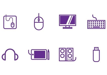 Computer Icon Set - vector #405497 gratis