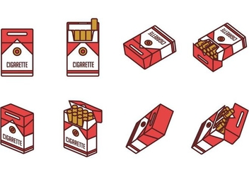 Cigarette Pack Vectors - бесплатный vector #405507
