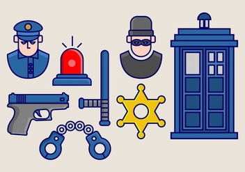 Tardis Vector Icon Pack - vector #405537 gratis