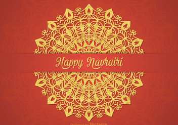 Free Happy Navratri Vector Card - Kostenloses vector #405697