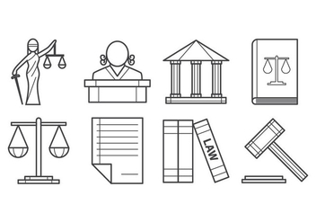 Free Law and Justice Icon Vector - vector gratuit #405817