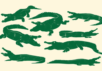 Crocodile Design Vector Set - Free vector #405857