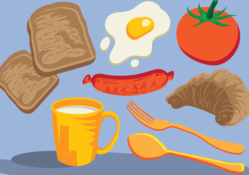 Breakfast Icons Foods - бесплатный vector #405877