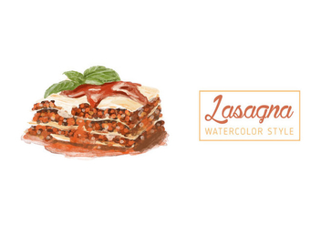 Free Lasagna Watercolor Vector - Free vector #405947