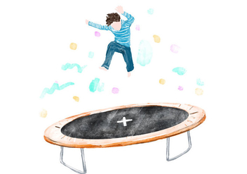 Free Trampoline Watercolor Vector - бесплатный vector #405957