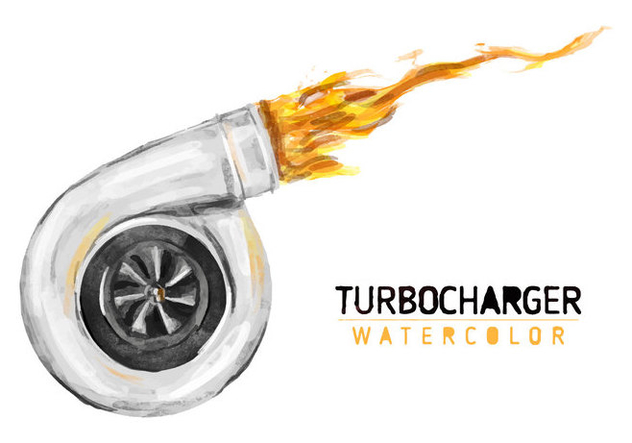 Free Turbocharger Watercolor Vector - Free vector #405967
