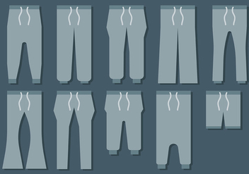 Free Sweatpants Icons Vector - Free vector #405977