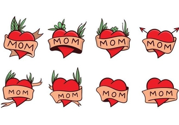 Free Mom Tattoo Vector - vector #406067 gratis