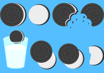 Free Flat Oreo Cookies Vector - Free vector #406077