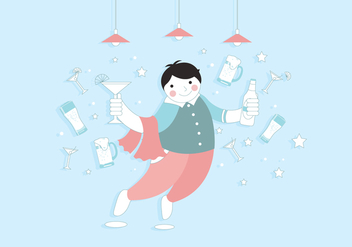 Barman Cute Vector - vector #406247 gratis