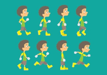 Walk Cycle Icons - Free vector #406277