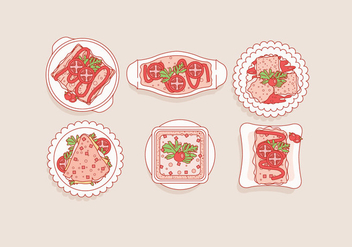 Lasagna Top View Vector - Free vector #406307