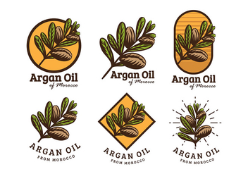 Argan Oil Logo Free Vector - бесплатный vector #406317