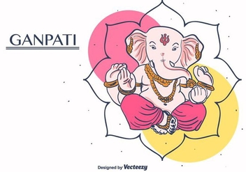 Ganpati Vector Background - Free vector #406377