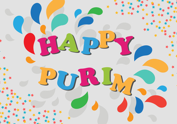 Purim Party Poster Carnival Invitation - vector gratuit #406467
