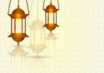 Ramadhan Light In The Template Of Background - бесплатный vector #406537
