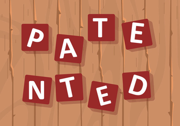 Sign Of Patented In Puzzle Of Wood Background - vector #406547 gratis