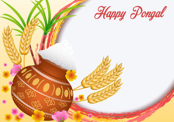 Happy Pongal Vector - vector #406567 gratis