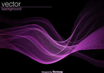 Vector Purple Wave Background - Free vector #406607