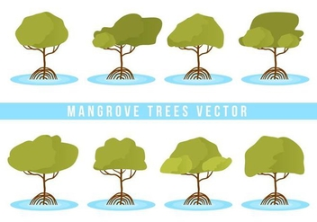 Free Mangrove Trees Vector - Kostenloses vector #406717