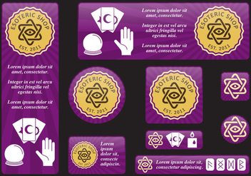 Esoteric Banners - Kostenloses vector #406747