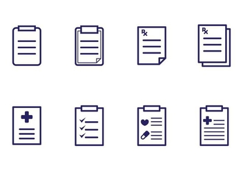 Prescription Pad Icons - vector #406767 gratis
