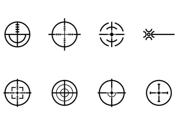 Laser Tag Icons - Free vector #406817