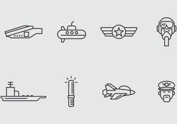 Aircraft Carrier Icon - vector #406847 gratis