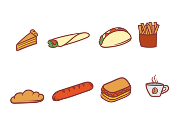 Set of Food Vector Icons - Kostenloses vector #406897