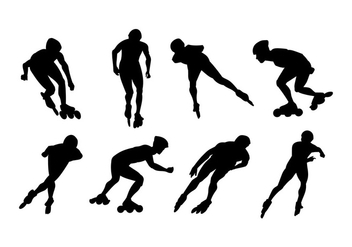 Roller Blade Silhouette Vector - Free vector #406967