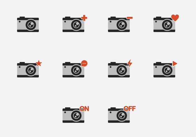 Camara Icon Set - vector #407007 gratis