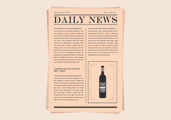 Old Newspaper Illustration - бесплатный vector #407017