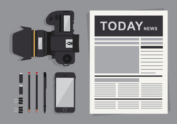 Old Newspaper Illustration - vector #407027 gratis