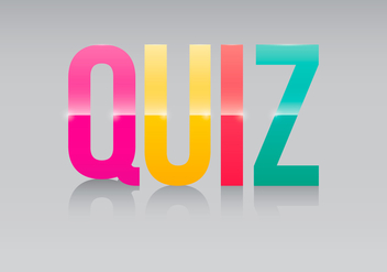 Trivia Quiz Logo Illustration - Free vector #407077