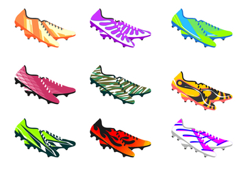 Soccer Shoes Free Vector - бесплатный vector #407087