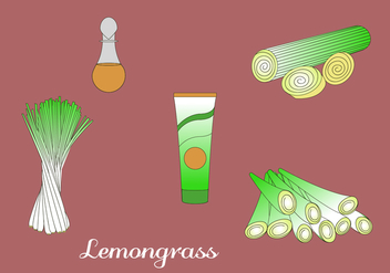 Lemongrass Vector Elements. - vector gratuit #407137