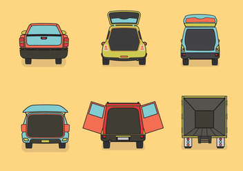 Car boot vector illustration color - vector gratuit #407187