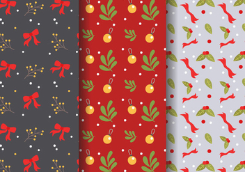 Free Christmas Pattern Vector - бесплатный vector #407277