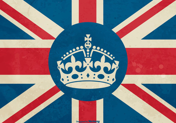 Bristish Crown on Flag Illustration - vector #407307 gratis