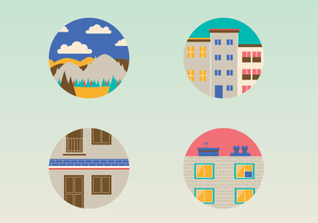 Building Vector Icons - Kostenloses vector #407417