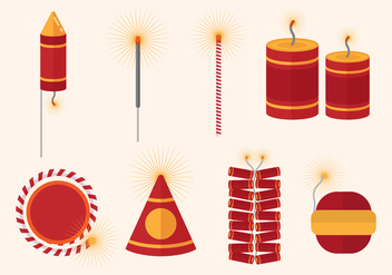 Free Fire Crackers Vector - Free vector #407547