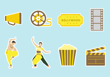 Free Bollywood Vector Icons - Free vector #407577